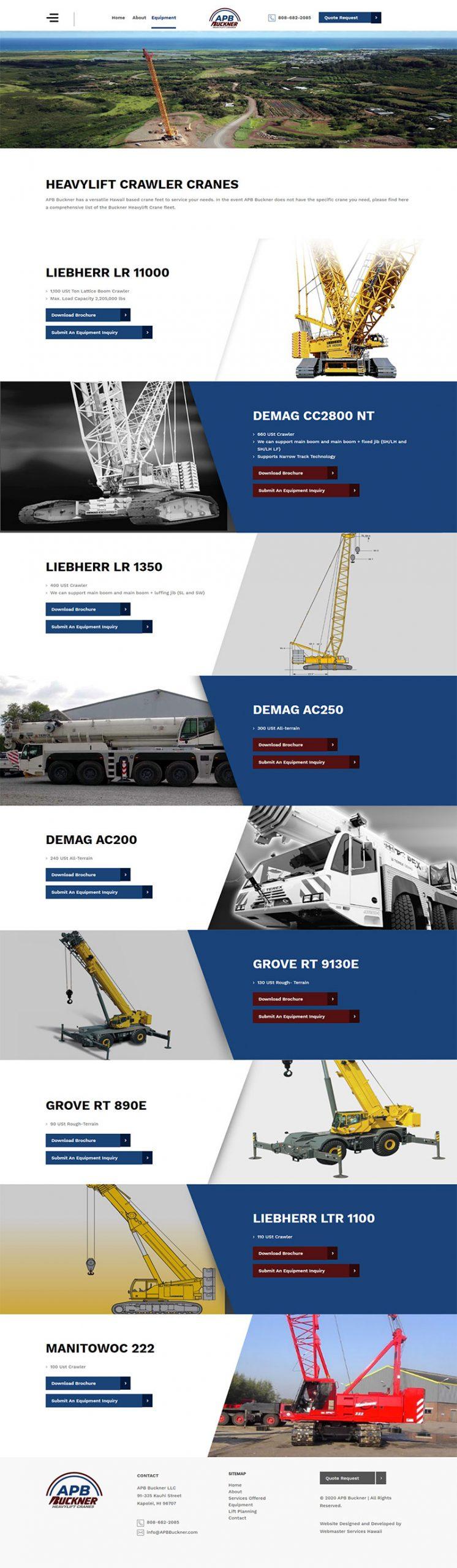 APB Buckner HeavyLift Cranes